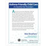 Asthma-Friendly Home Providers Checklist (Eng-PDF)