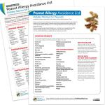 Avoidance List/Cards: Peanut Allergy (PDF)