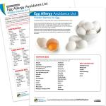 Avoidance List/Cards: Egg Allergy (PDF)