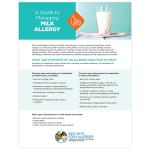 Avoidance List/Cards: Milk Allergy (PDF)