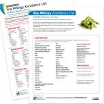 Avoidance List/Cards: Soy Allergy (PDF)