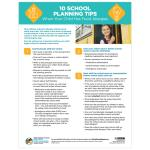 10 School Planning Tips (Pack of 10)