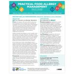 Food Allergy Management Quick Guide (Pack of 10)