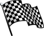 6 Pack Classic Style Checkered Flags
