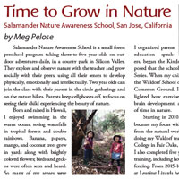 Time to Grow in Nature