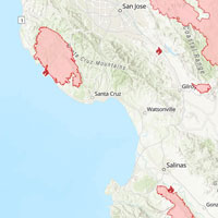 Santa Cruz area wildfires