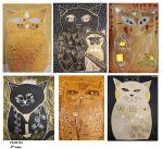 Student Greeting Cards Set: Klimt's Cats