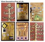 Student Greeting Cards Set: Klimt Geometrics/Tree