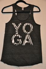 Zebra Yoga - Gray Tank:  Women's