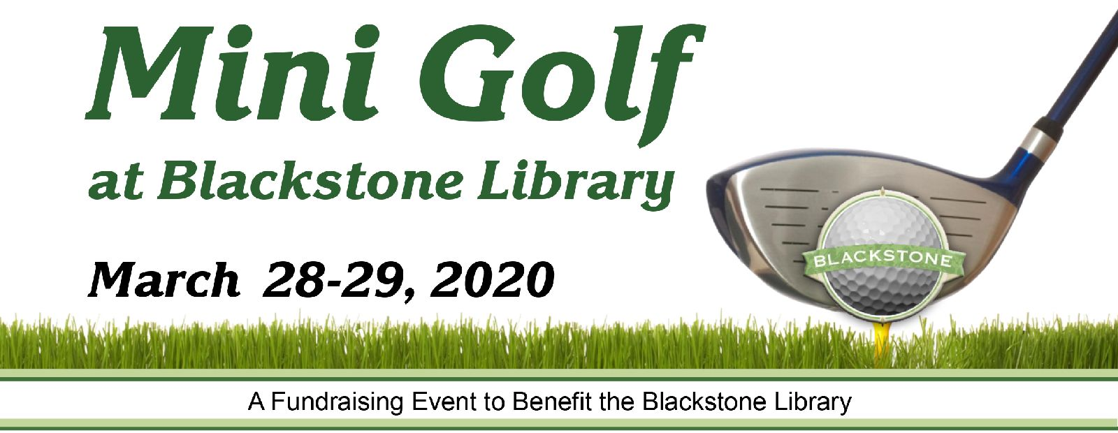 Mini Golf at Blackstone Library