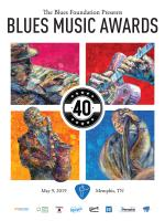 2019 Blues Music Awards Poster
