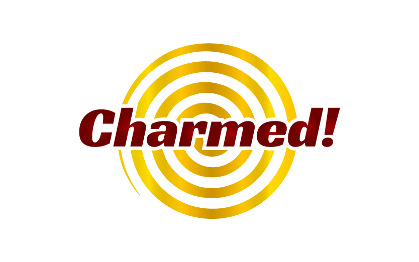 Charmed Logo with gold spiral background