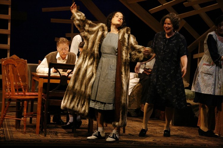 Production photo of The Diary of Anne Frank