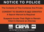 Gun Safe Sticker - Notice to Police
