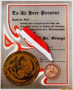 Order of St. George Bronze w/Certificate