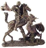 Saint George Slaying the Dragon Statue