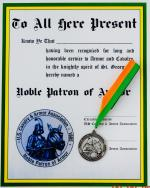 Noble Patron of Armor w/Certificate