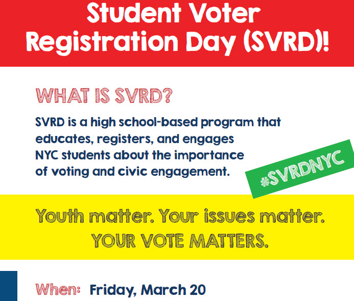 Student Voter Registration Day