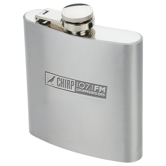 CHIRP-branded flask
