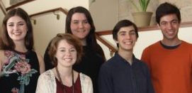 (from left to right: Michaela Ferrogiaro, Paige Deeds, Amanda Skillman, Robert Kiner, Ashur Gharavi)