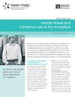 Mental Illness and Substance Use in the Workplace