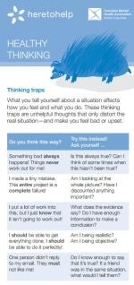 Healthy thinking rack card