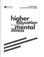 Higher education for people with mental illness