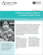 Childhood Sexual Abuse: A Mental Health Issue