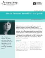 Mental Illnesses in Children and Youth