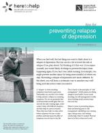 Preventing Relapse of Depression