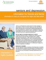 Seniors and Depression: for friends and family