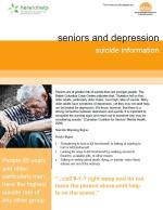 Seniors and Depression: Suicide information