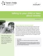 Talking to Your Child or Teen About Anxiety