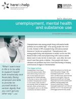 Unemployment, Mental Health and Substance Use