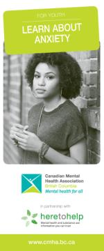 Learn about anxiety, youth brochure