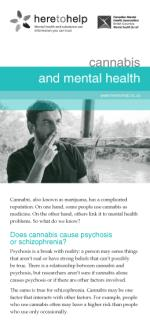 Cannabis and Mental Health rack card