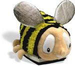 Bombus Bumble Bee Plush Backpack Book