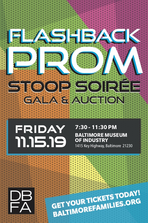 DBFA 2019 Stoop Soiree - Flashback Prom, Nov. 15th, 7:30-11:30pm.