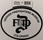 Denver Firefighters Museum Logo Decal