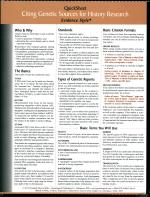 #413 Quick Sheet Genetic Sources