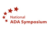 National ADA Symposium logo with trail of stars