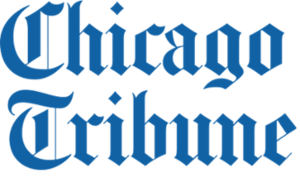 Chicago Tribune written in gothic text