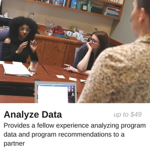up to $49 provides a fellow experience analyzing program data and program recommendations to a partner