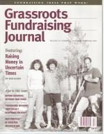 Grassroots Fundraising Journal- Vol. 21 No. 1- Back Issue