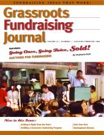 Grassroots Fundraising Journal- Vol. 24 No. 1- Back Issue