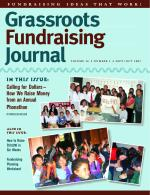 Grassroots Fundraising Journal- Vol. 26 No. 5- Back Issue