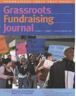 Grassroots Fundraising Journal- Vol. 27 No. 1- Back Issue