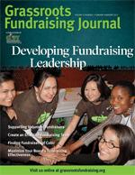 Grassroots Fundraising Journal v31 n1, Developing Fundraising Leadership, PRINT EDITION