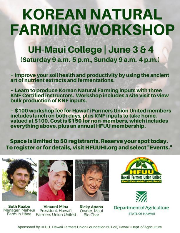 KNF Farming Workshop Poster