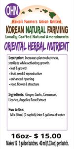 Oriental Herbal Nutrient